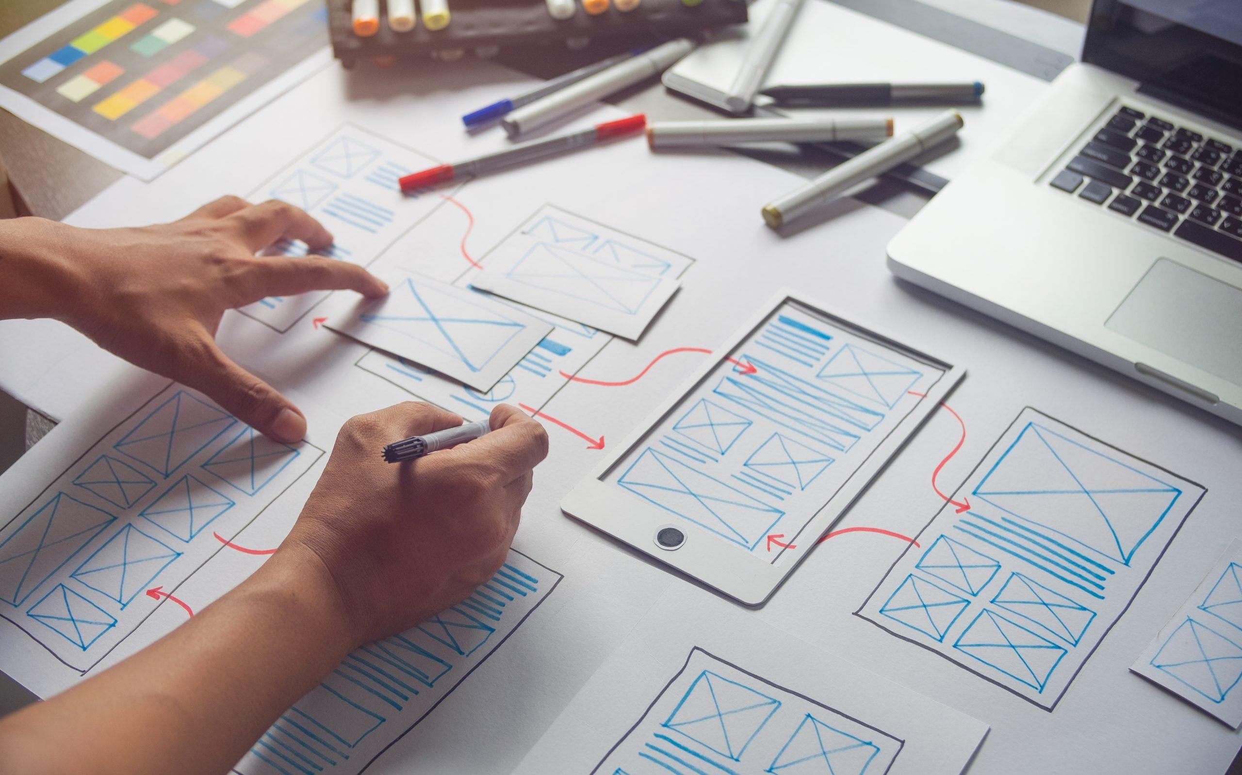 Ux,Graphic,Designer,Creative,Sketch,Planning,Application,Process,Development,Prototype