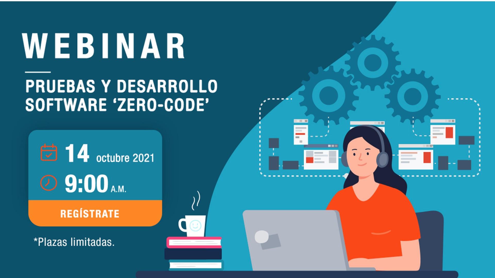 Nuevo Webinar 'Pruebas y desarrollo software Zero-Code', el próximo jueves 14